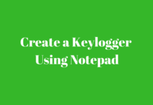 keylogger in notepad